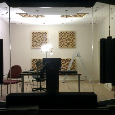 Jan 29, 2013 - Temporary set-up in Noisia's Thijs studio awaiting final outer shell glass install and final inspection & measurements later this week. — at Groningen.