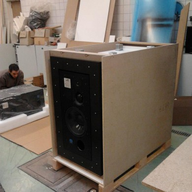 Feb 09, 2013 - Bonati Mastering ATC 100A SL Custom speakers & Decoupling Nacelles ready for shipping to NYC @ DEMATEC Workshop.