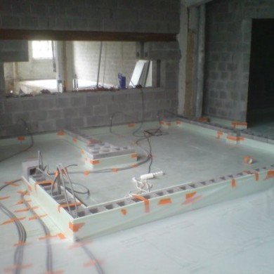 July 24, 2009 - Preparing for floating floor and