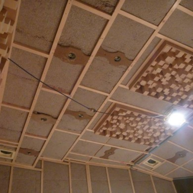 Jul 04, 2013 - Ceiling just before the fabric is placed at Matt Gray Mastering. Excellent build quality! — in Brisbane, Queensland, Australia.