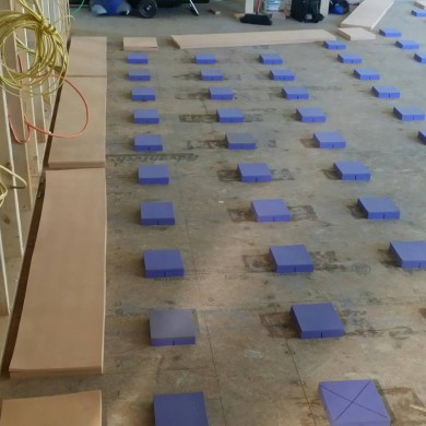 Jan 24, 2014 - Floating floor on the way @ Mark Pinkston Studios.