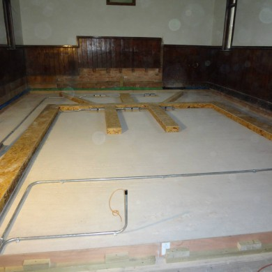 Nov 24, 2014 - Stardelta Mastering's cable duct network before screed was poured. — with Stardelta Mastering.