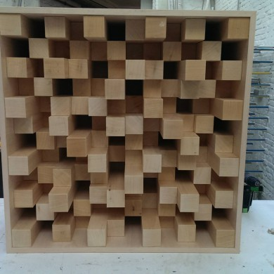Jan 08, 2015 - Diffusors for Zino Mikorey Mastering, ready for final sanding and finishing.