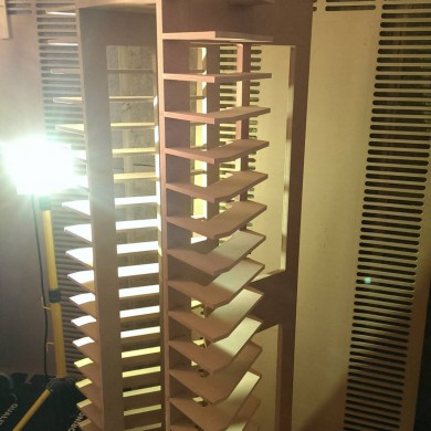 Jan 18, 2015 - Pretty complex custom front wall system for StarDelta Mastering's PMC speakers, aimed at compensating baffle step / edge diffraction and the TL response build up when in wall which would've been too pronounced otherwise. The carpenter who built that structure was probably happy when he finished.