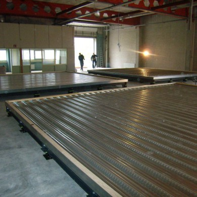 May 10, 2012 - Noisia's Control Room floated floors ready for concrete pouring.