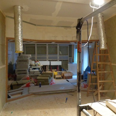 Apr 03,2015 - Side wallt reatment in place at Hannes Haindl.