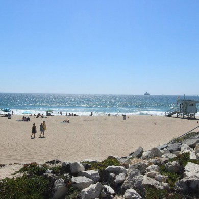 Jul 28, 2015 - Day off in Los Angeles - Surfing with Eveanna Manley and James Salter. — at El Porto Beach.