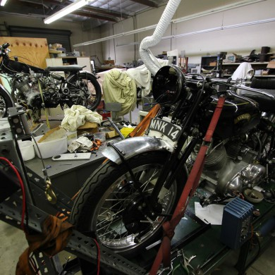 Jul 28, 2015 - Day off in Los Angeles - visiting a motorbike enthousiast & inventor workshop with Eveanna Manley and James Salter. Beautiful bikes. — in Los Angeles, California.