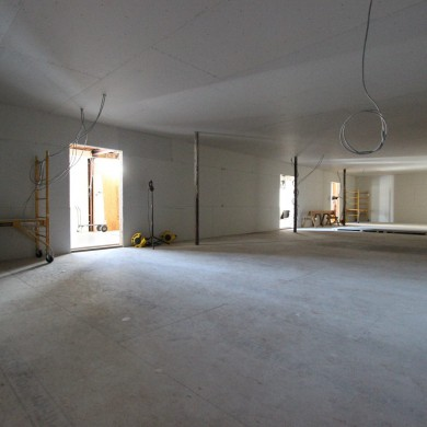 Jul 28, 2015 - Progress @ NEST in Los Angeles. Decoupled ceilings are in place and layers of drywall added. Basic shell is finished - next shaped rooms shells come in. It' s not visible on photos, but this space is not continuous - there are 3 independant areas of equal surface, separated by a 5mm gap. — in Los Angeles, California.
