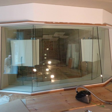 Aug 18, 2015 - All glass panels in place @ Hannes Haindl's Studio in Hamburg. — in Hamburg, Germany.