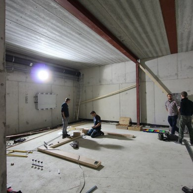 Oct 09, 2015 - Dry main floating floor & Cable duct assembly @ Jef Marten's studio.