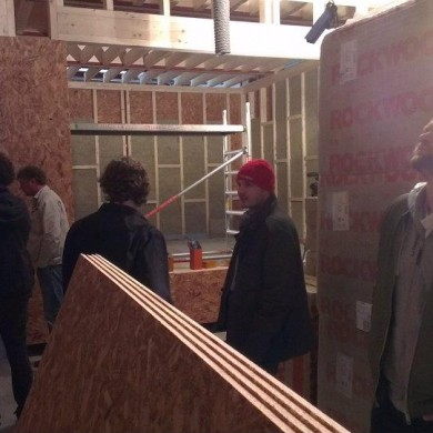 Jun 01, 2012 - Thijs, Martijn and Nik from Noisia checking out the progress on the build