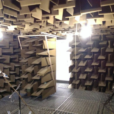 Nov 05, 2015 - Visiting and inspecting the Anechoic Chamber @ Gibson in Leuven. This is an old one but the wedges are still in good shape. — in Leuven, Belgium.
