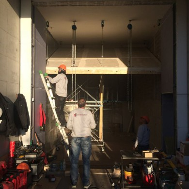 Dec 03, 2015 - KMS Mastering in Switzerland started the build process. Not an easy one. Because the space is a bit unusual and we needed to use all the width possible, we have to start by getting the ceiling up, then the walls. Up the front ceiling goes...
