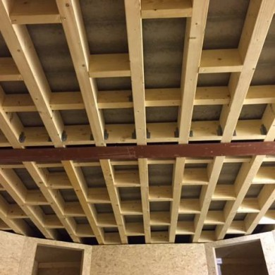 Jan 14, 2016 - Ceiling load bearing structure @ Jef Martens. Clean execution. Like. — in Breda.