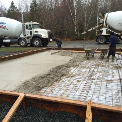May 10, 2016 - Pouring foundation slab @ Archive Mastering. Clean job.