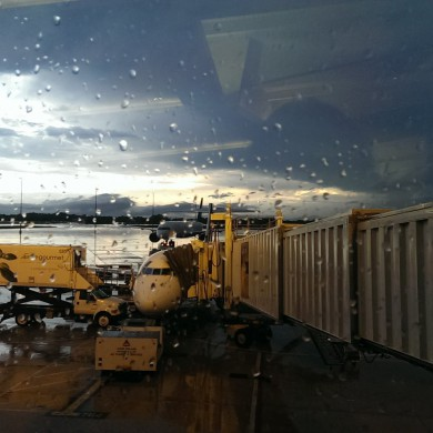 May 10, 2016 - My plane from Florida back to NYC was hit by lightning at gate while we were in it. Quite the noise in there when it happened. Had to switch planes. Not a bad decision.
