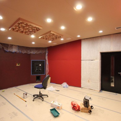 May 26, 2016 - Dave Collins Mastering Room A almost completed (Room B is a clone of Room A). Also upgraded the in-wall ATC 110 A SL to the new ATC tweeters in room A & B.