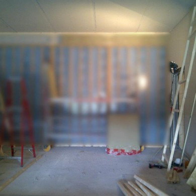 Jun 22, 2012 - Noisia - Backwall trap membranes are being installed. Sorry about the blur on this one - can't show everything. But this will give you an idea of their size. There are a lot of them in the studio. This is to treat very low frequencies.