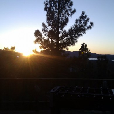 Oct 12, 2010 - Sunset in California... — in Big Bear Lake.
