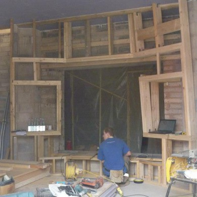 Sep 11, 2012 - Circle Recording) Studios, Birmingham, as of early July 2012. Flew there for a few days to help the local contractor with the front wall assembly & geometry (which is no easy job). We also installed the Custom ATC 110A SL main speakers decoupling system. The speaker's housings were adapted & custom built by ATC to fit perfectly with the geometry of the front wall and the in-wall decoupling system. Natural frequency of the decoupling: 4Hz. Total tension in the floating system of 5.0kN Sweet. ATC rules.