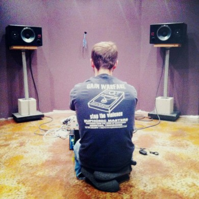 Sep 13, 2012 - Jason J. Hall having a first listen to his FTB room in the finishing stages. — in Nashville, Tennessee.