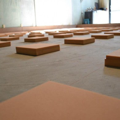 Oct 11, 2012 - REGUFOAM stripes lay-out for Matthew Gray Mastering's floating floor. Natural Frequency is expected to be around 7/8Hz.