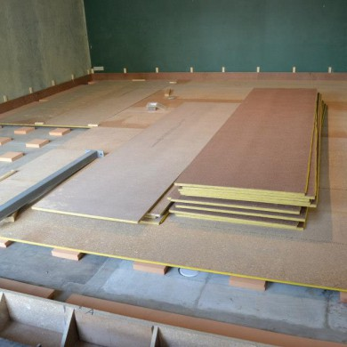 Oct 11, 2012 - Concrete form-work started over REGUFOAM for floating floor @ Matthew Gray Mastering.