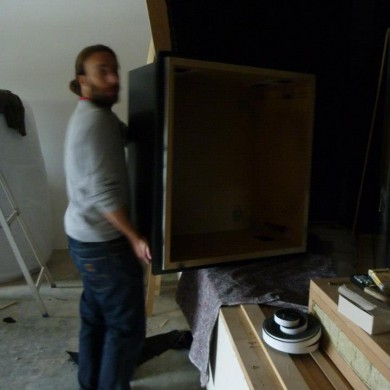 Nov 05, 2012 - Slowly starting the final install and finish @ Noisia Studios. This is the outer decorative canopy of the ATC 110 A SL speakers decoupling nacelles. Heavy box already. What goes inside, even more.